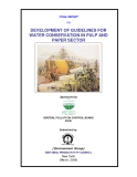 DEVELOPMENT OF GUIDELINES FOR  WATER CONSERVATION IN PULP AND  PAPER SECTOR
