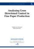 ANALYSING CROSS DIRECTIONAL CONTROL IN FINE PAPER PRODUCTION