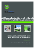 MECHANICAL VENTILATION WITH  HEAT RECOVERY IN NEW HOMES