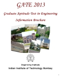 Graduate Aptitude Test in Engineering    Information Brochure	2013