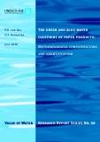 The green and blue water footprint of paper products: Methodological considerations and quantification