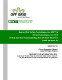 MagLev Wind Turbine Technologies, Inc. (MWTT) &  Off Grid Technologies, Inc. (OGT)  Vertical Axis Wind Turbine 200 Mega Watt Off Shore Wind Farm  (VAWT Off Shore JV)