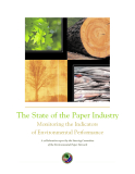 The State of the Paper Industry Monitoring the Indicators of Environmental Performance