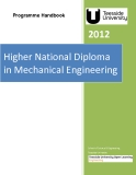 Higher National Diploma  in Mechanical Engineering 2012