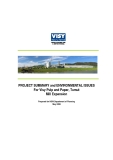 PROJECT SUMMARY and ENVIRONMENTAL ISSUES  For Visy Pulp and Paper, Tumut   Mill Expansion