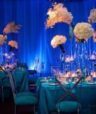 7 cách đem màu xanh dương vào tiệc cưới
