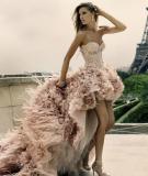 Áo cưới cho cô dâu lưng dài chân ngắn