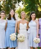 Phối hợp hài hòa trang phục cô dâu và phù dâu