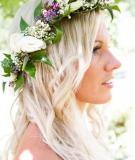 Vòng hoa đội đầu đáng yêu cho cô dâu