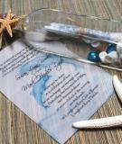 Êm đềm thiệp cưới màu xanh lá