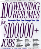 100 WINNING  RESUMES FOR  $lOO,OOO+  JOBS  Resumes That Can