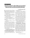 """Báo cáo """" Vấn đề thu hồi đất và bồi thường khi thu hồi đất trong dự thảo luật đất đai (sửa đổi bổ sung) """""""