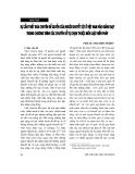 """Báo cáo """" Sự cần thiết đưa chuyên đề quyền của người khuyết tật ở Việt Nam vào giảng dạy trong chương trình các chuyên đề tự chọn thuộc môn luật hiến pháp """""""