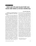 """Báo cáo """" Pháp luật về cạnh tranh ở Việt Nam trong tiến trình tự do hoá thương mại """""""