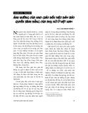 """Báo cáo """" Ảnh hưởng của nho giáo đến việc đảm bảo quyền bình đẳng của phụ nữ ở Việt Nam """""""