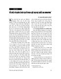 """Báo cáo """" Tổ chức và quản lí đào tạo ở Khoa luật Đại học quốc gia Singapore """""""