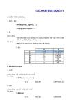 Bài tập về các hàm trong Excel