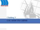 Bài giảng tin học ứng dụng: Chương IV - Các hàm tài chính