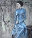 Bức Tranh Thiếu Nữ Áo Lục