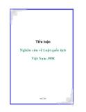 Tiểu luận: Nghiên cứu về Luật quốc tịch Việt Nam 1998