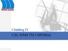 Bài giảng tin học ứng dụng: Chương IV - Các hàm tài chính (tt)