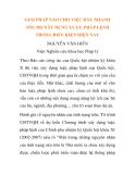 NGHIÊN CỨU KHOA HỌC PHÁP LUẬT: GIẢI PHÁP NÀO CHO VIỆC ĐẨY NHANH TỐC ĐỘ XÂY DỰNG LUẬT, PHÁP LỆNH TRONG ĐIỀU KIỆN HIỆN NAY