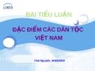 Tiểu luận: Đặc điểm các dân tộc Việt Nam