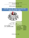 Đề tài nghiên cứu khoa học: Vấn đề làm việc nhóm của sinh viên khoa Kinh tế - Luật