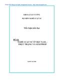 Tiểu luận đề tài Nghề luật sư ở Việt Nam - Thực trạng và giải pháp