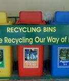 Vị trí đặt thùng để thu gom , phân loại rác thải  tại nguồn trên địa bạn các phường quận Hoàng Kiếm