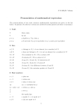 Pronunciation of mathematical expressions