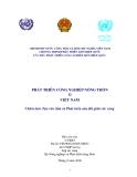 Phát triển công nghiệp nông thôn ở Việt Nam