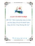 luận văn:Một số giải pháp năng cao hiệu quả huy động vốn tại chi nhánh Ngân hàng Sài Gòn  Công Thương Hà Nội