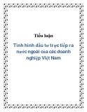Tiểu luận Tình hình đầu tư trực tiếp ra nước ngoài của các doanh nghiệp Việt Nam