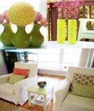"""Sửa bàn, làm hoa """"dụ"""" hè vào phòng khách"""