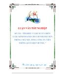 luận văn:TÌM HIỂU VÀ ĐỀ XUẤT CHIẾN LƯỢC KINH DOANH CHO CHI NHÁNH VIỄN THÔNG 5 HÀ NỘI -TỔNG CÔNG TY VIỄN THÔNG QUÂN ĐỘI VIETTEL