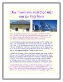 Đẩy mạnh sản xuất điện mặt trời tại Việt Nam