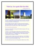Nhân lực cho ngành điện hạt nhân