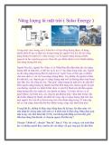 Năng lượng từ mặt trời ( Solar Energy )