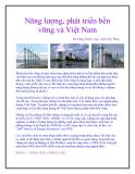 Năng lượng, phát triển bền vững và Việt Nam