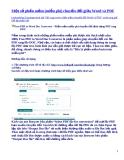 Một số phần mềm chuyển đổi giữa Word và PDF
