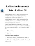 Redirection Permanent Links - Redirect 301