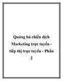 Quảng bá chiến dịch Marketing trực tuyến tiếp thị trực tuyến - Phần 2