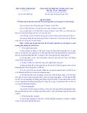 THỦ TƯỚNG CHÍNH PHỦ Số: 21/2013/QĐ-TTg