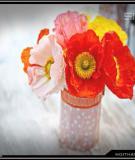 Lọ hoa đáng yêu từ giấy gói quà