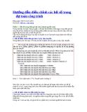 Hướng dẫn điều chỉnh các hệ số trong dự toán công trình