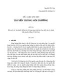 Đề tai: Phân tích các ưu/nhược điểm khi sử dụng xăng sinh học thay thế cho các nhiên liệu truyền thống ở Việt Nam