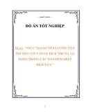 luận văn:THỰC TRẠNG TIỀN LƯƠNG TIỀN THƯỞNG VỚI VẤN ĐỀ KÍCH THÍCH LAO ĐỘNG TRONG CÁC DOANH NGHIỆP HIỆN NAY