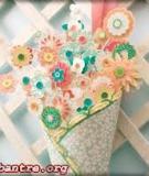 Cách cắm hoa trong ống giấy