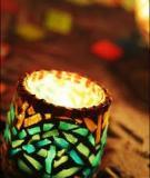 Cốc thủy tinh hóa thành đèn lung linh